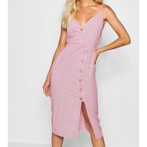 Cotton Stripe Button Dress